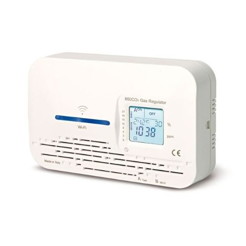 Medidor de CO2 ambiente, con display, salida de relé y WiFi AL02