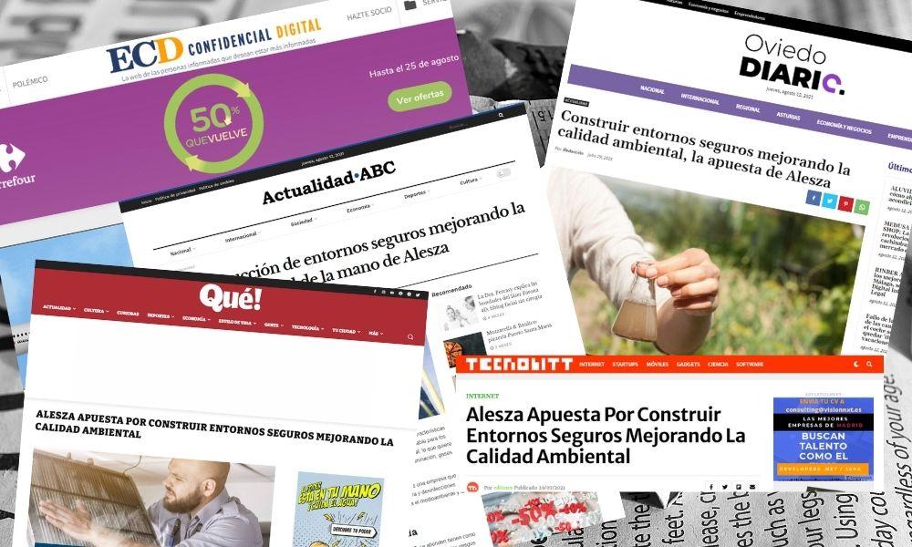Alesza aparece en los medios debido al aumento de la demanda en Servicios de Sanidad Ambiental