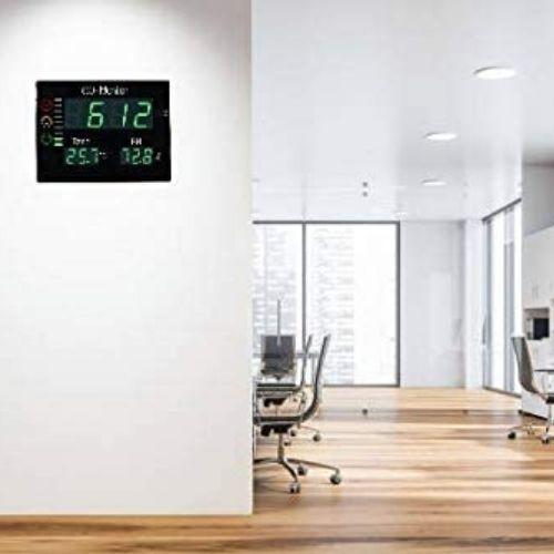 Medidor Co2 profesional de pared LCD